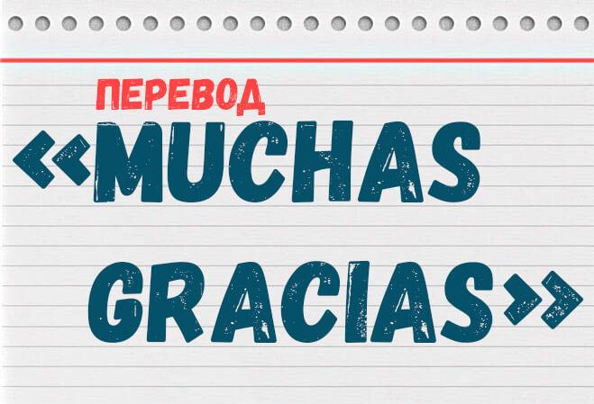 muchas gracias перевод на русский