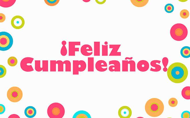 С днем рождения на испанском языке