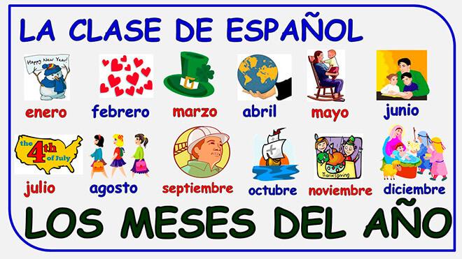 Как выучить месяца по Испански?